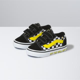 Toddler Vans X Spongebob Old Skool Velcro Shoes (1-4 years)