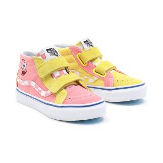 Kids Vans X Spongebob Sk8-Mid Reissue Velcro Shoes (4-8 years)