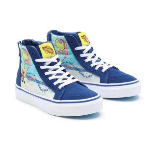 Kids Vans X Spongebob Sk8-Hi Zip Shoes (4-8 years)