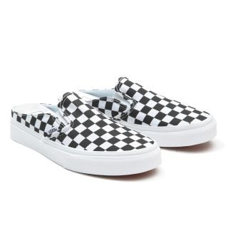 CHECKERBOARD CLASSIC SLIP-ON MULE SHOES