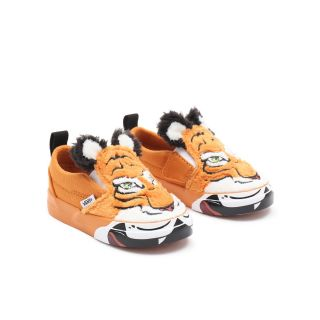 TODDLER VANS X PROJECT CAT WILD TIGER SLIP-ON VELCRO SHOES (1-4 YEARS)