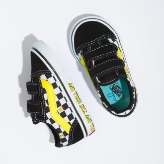Toddler Vans X Spongebob Old Skool Velcro Shoes (1-4 years) Hover
