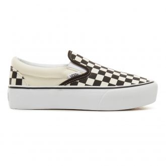 Checkerboard Classic Slip-On Platform Shoes