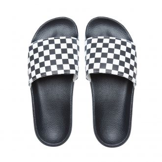 Checkerboard Slide-On Sandals Hover
