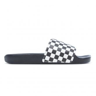 Checkerboard Slide-On Sandals