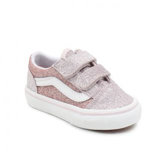 TODDLER 2-TONE GLITTER OLD SKOOL VELCRO SHOES (1-4 YEARS)