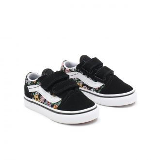 TODDLER FUN FLORAL OLD SKOOL VELCRO SHOES (1-4 YEARS)