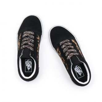 YOUTH LEOPARD FUR OLD SKOOL SHOES (8-14 YEARS) Hover