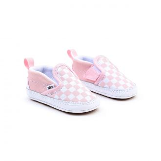 Infant Checkerboard Slip-On V Crib Shoes (0-1 year)