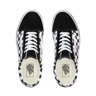 Checkerboard Old Skool Platform Shoes Hover