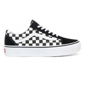Checkerboard Old Skool Platform Shoes