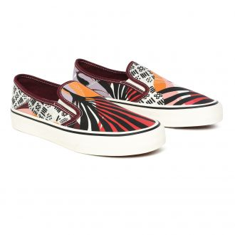 Palm Floral Slip-On Sf Shoes
