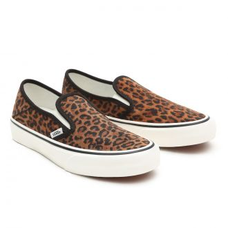 Suede Leopard Slip-On SF Shoes