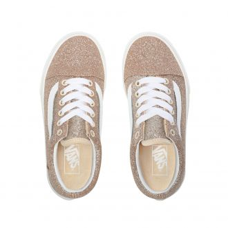 Kids Glitter Old Skool Shoes (4-8 years) Hover