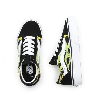 Kids Slime Flame Old Skool Shoes (4-8 years) Hover