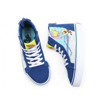 Kids Vans X Spongebob Sk8-Hi Zip Shoes (4-8 years) Hover