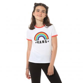 Girls Rainbow Patch T-shirt (8-14+ years)
