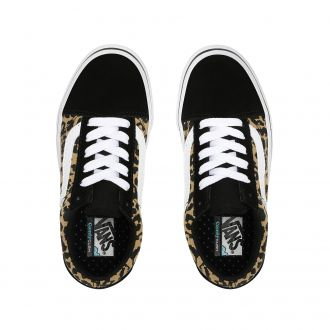 Kids Leopard ComfyCush Old Skool Shoes (4-8 years) Hover