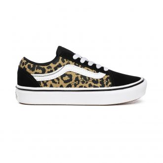 Kids Leopard ComfyCush Old Skool Shoes (4-8 years)