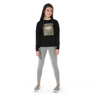 Girls Leopard Box Crew Sweater (8-14+ years)