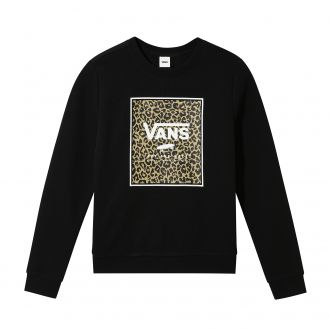 Girls Leopard Box Crew Sweater (8-14+ years) Hover