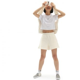 WM FLYING V CROP CRE White
