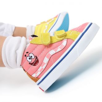 Toddler Vans X Spongebob Sk8-Mid Reissue Velcro Shoes (1-4 years) Hover