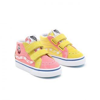 Toddler Vans X Spongebob Sk8-Mid Reissue Velcro Shoes (1-4 years)
